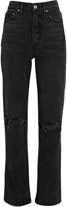 GRLFRND Mica Distressed High-Rise Jeans