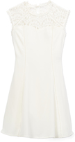 Speechless Off-White Lace-Accent Skater Dress