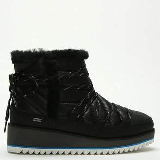 UGG Cayden Black Nylon Ankle Boots
