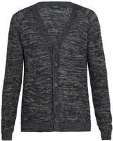 Zanone V-neck multi-weave cardigan