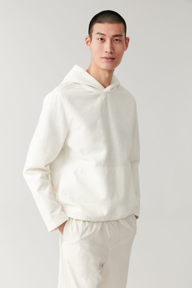 Cos Hooded Crinkle Long Sleeve Top