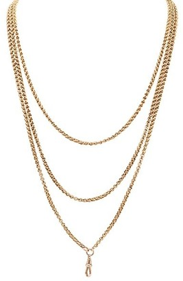 Stephanie Windsor Victorian 15K Yellow Gold Long Chain Necklace