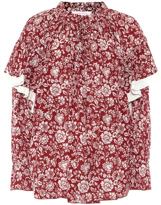 See by Chloe Floral cotton voile blouse