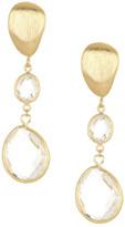 Rivka Friedman Graduated Teardrop Rock Crystal Dangle Earrings