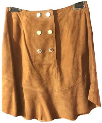 Pinko Camel Suede Skirt for Women