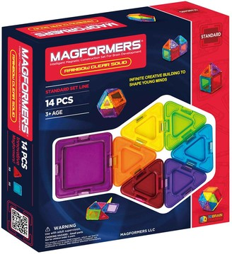clear Magformers 14-pc. Solid Rainbow Set