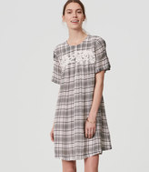 LOFT Lacy Plaid Swing Dress