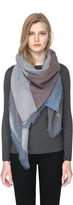 Soia & Kyo DAISIE woven scarf with geometric print in maroon