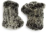 Saks Fifth Avenue Rabbit Fur Fingerless Gloves