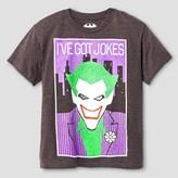 Batman Boys' I Got Jokes Graphic Tee - Charcoal Heather