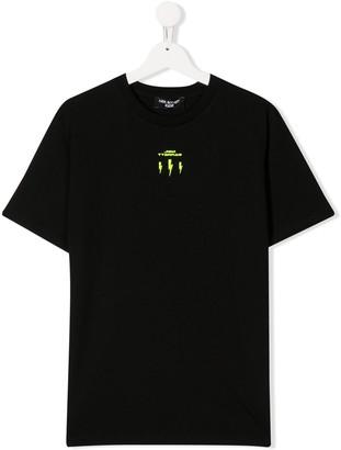 Neil Barrett Kids TEEN reverse lightning bolt T-shirt