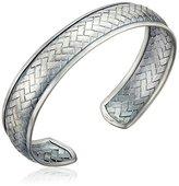 Satya Jewelry Silverl Woven Cuff Bracelet