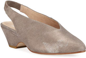 Eileen Fisher Gatwick Low-Heel Slingback Pumps