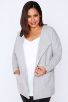 Yours Clothing Grey Marl Soft Blazer Jacket