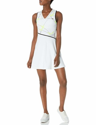 Lacoste Womens Sport Printed Tennis Performance Dress Tennis Dress