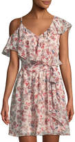 Kensie Secret Garden Asymmetric Ruffle Dress