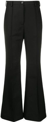 Acne Studios Flared High-Waisted Tailored Trousers