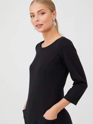 Wallis Bucket Pocket Swing Dress - Black