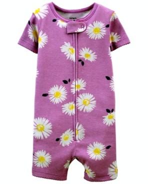 Carter's Toddler Girls Daisy Snug Fit Romper Pajama Set