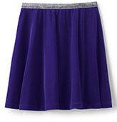 Lands' End Girls Velveteen Skirt-Bavarian Creme