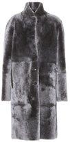 Joseph Reversible leather and fur coat