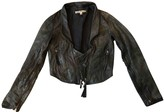 Twenty8Twelve By S.miller Grey Leather Leather Jacket for Women