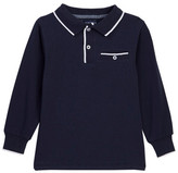 Andy & Evan Long Sleeve Polo Tee (Toddler & Little Boys)