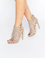 Glamorous Embellished Strap Heeled Sandals