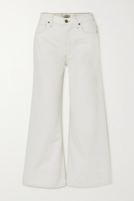 Citizens of Humanity Serena Cropped Organic High-rise Wide-leg Jeans - Ivory