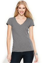 INC International Concepts Petite Top, Short-Sleeve V-Neck Tee