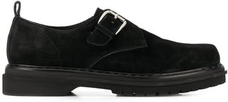 Premiata Suede Buckle Shoes