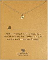 "Dogeared #Hashtag Pendant Necklace, 16"""