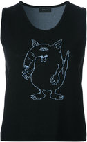 G.V.G.V. cartoon knit tank top