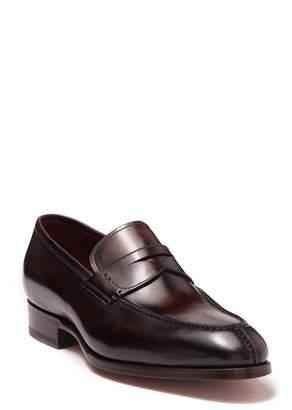 Magnanni Lucas Penny Slit Leather Loafer