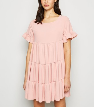 New Look Cameo Rose Tiered Smock Dress