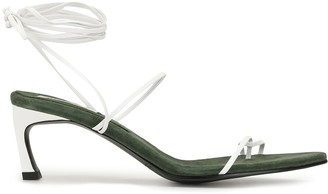 Reike Nen Odd Pair 70mm lace-up sandals