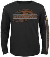 Reebok Boys' Long-Sleeve Anaheim Ducks Line Up T-Shirt