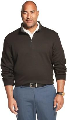 Van Heusen Big & Tall Flex Fleece Quarter-Zip Fleece Pullover