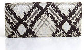 Kotur Multi-Color Canvas Sheer Abstract Magnet Closure 4 Pocket Clutch Small
