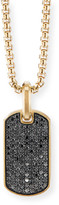 David Yurman Men's 18k Gold Black Diamond Tag Enhancer