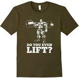 Men's Do You Even Lift? Gym Body Building T-Shirt Small