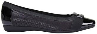 Easy Steps Tamsin Black Patent/Print Flat Shoes Black