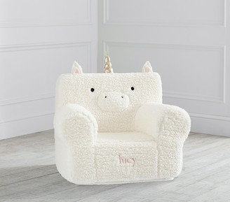Pottery Barn Kids My First Unicorn Cozy Sherpa Anywhere Chair