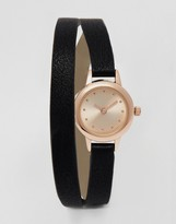 Asos Double Wrap Mini Dial Watch