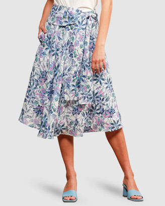SACHA DRAKE - Women's Blue Skirts - Mission Beach Skirt - Size One Size, 8 at The Iconic