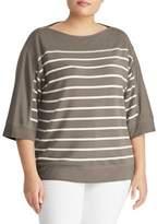 Lauren Ralph Lauren Plus Striped Boatneck Sweater
