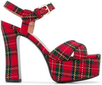 Pollini tartan sandals