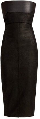 Rick Owens Strapless Leather Bustier Dress