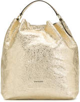 Twin-Set mirrored crackle tote bag