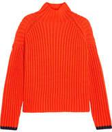 Victoria, Victoria Beckham Ribbed Wool-blend Turtleneck Sweater